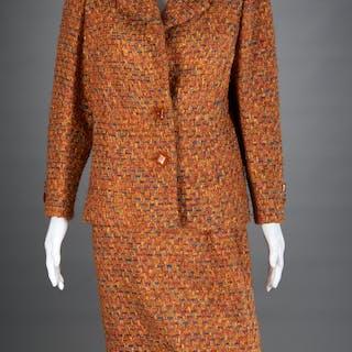 Ladies Akira Isogawa boucle skirt suit