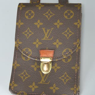 Louis Vuitton monogram canvas vertical belt pouch