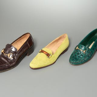 Group of ladies Gucci shoes