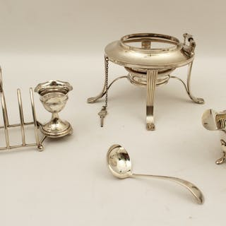 4 PC. LOT OF ENGLISH HALLMARKED SILVER