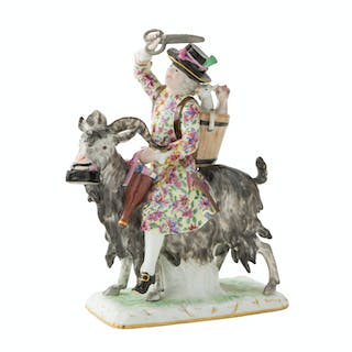 "A German Meissen ""Count Brühl's Tailor"" figural group"