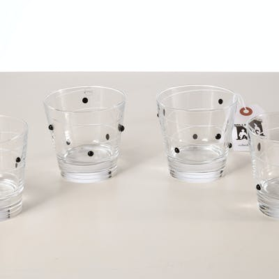 Set (4) Salviati Coriandoli old fashioned glasses