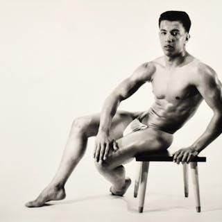 Large Bruce Bellas Nude Male Physique Photo - Bruce Bellas (1909-1974)