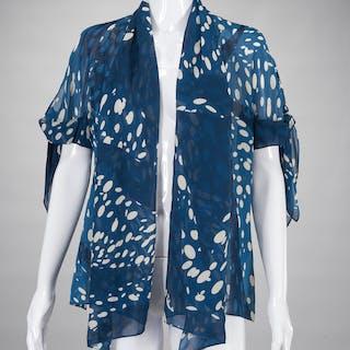 Vintage Hermes Paris ladies silk jacket