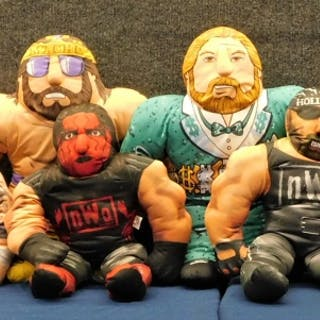 10 Vintage Tonka Toy Biz Plush Wrestling Buddies