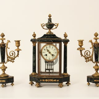 FRENCH 3 PC. CLOCK SET
