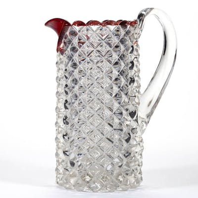 ROANOKE - RUBY-STAINED WATER PITCHER