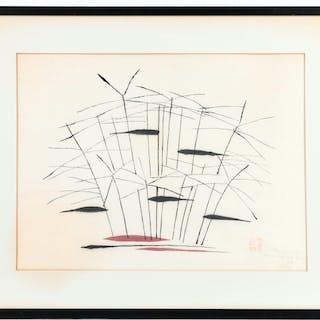 Mikumo (Nenjiro Inagaki), woodblock print
