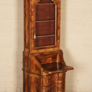 CONTINENTAL WALNUT SHAPED FRONT BOOKCASE