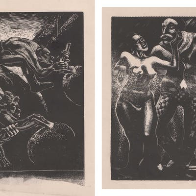 Glen H. Rounds Wood Engravings [NC, SD]