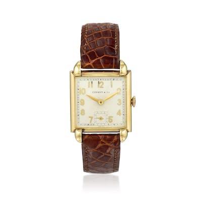 IWC Wristwatch Retailed by Tiffany & Co. in 14K Gold