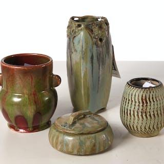 (4) European Art Pottery vessels