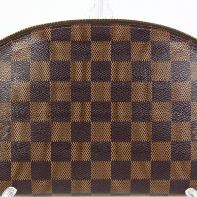 Louis Vuitton cosmetic pouch, having a Damier Ebene coated canvas