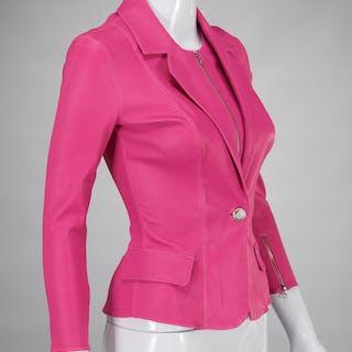 Aphero pink lambskin leather jacket