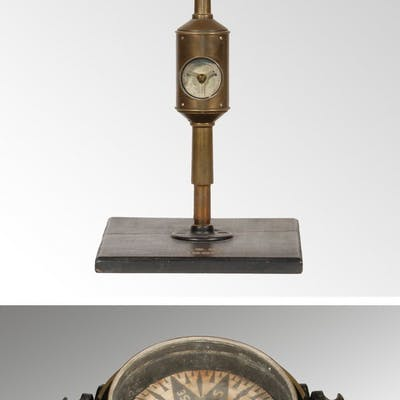 19TH C. ANEMOMETER AND SHIP'S COMPASS