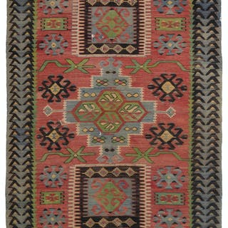 A Turkish kilim rug