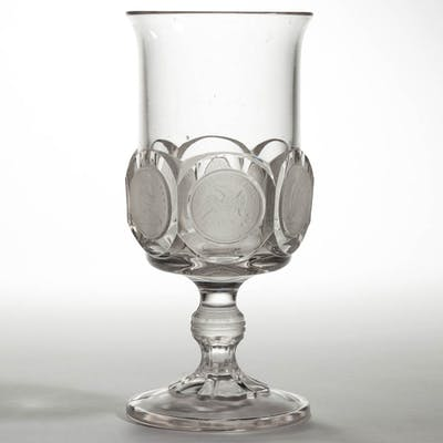 U. S. COIN / SILVER AGE (OMN) GOBLET / FOOTED ALE