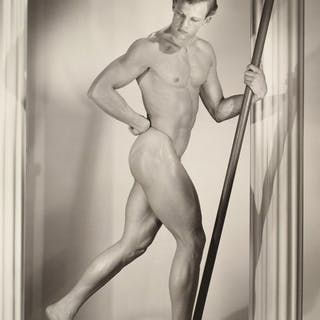 Large Nude Male Physique Photo, Bruce Bellas Estate - Bruce Bellas