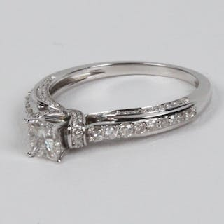 14K WHITE GOLD DIAMOND BRIDAL RING