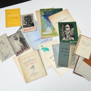 Group vintage artist exhibition catalogs