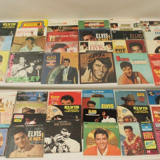 COLLECTION OF 53 ELVIS PRESLEY PROMOTIONAL RECORDS