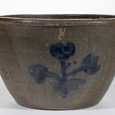 MAGEE ATTRIBUTED, WASHINGTON CO., VALLEY OF VIRGINIA DECORATED STONEWARE CROCK