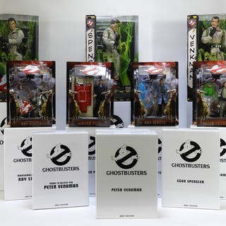 12PC Mattel Matty Collector Ghostbusters Toy Group