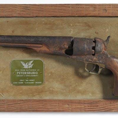 1860 Colt Army Pistol Relic, Civil War | Barnebys