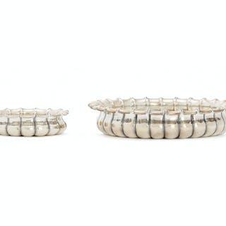 Two Buccelatti sterling silver bowls