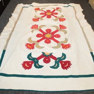 Antique American Quilt & other Textiles
