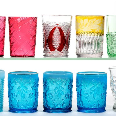 ASSORTED EAPG / VICTORIAN GLASS TUMBLERS, LOT OF TEN