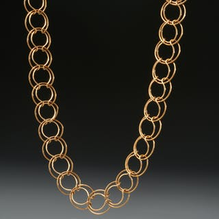 Cartier 18k gold modernist necklace