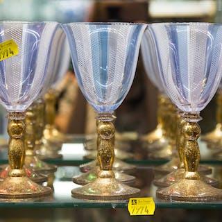 Thirteen Italian Glass Goblets