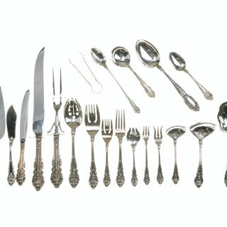 "A Wallace ""Sir Christopher"" sterling silver flatware service"