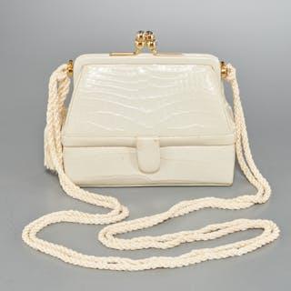 Vintage Judith Leiber 007 crocodile evening bag
