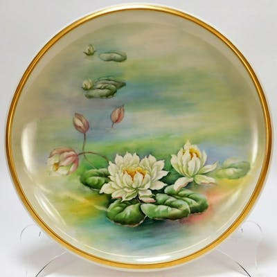 American Belleek Porcelain White Water Lilies Bowl