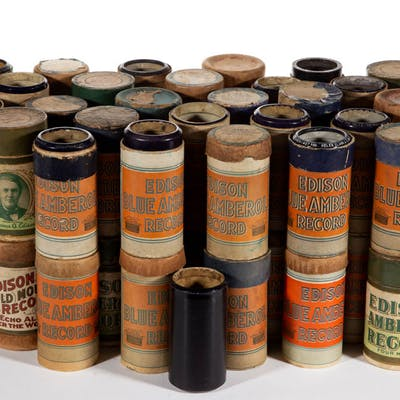 ASSORTED CYLINDER RECORDS, LOT OF 62