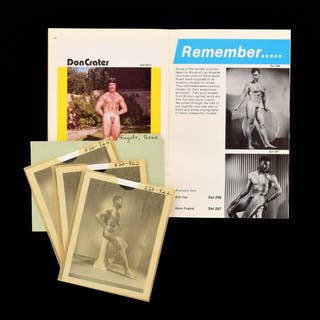 3 Bruce Bellas Nude Male Photos, Negatives, Catalog & Ephemera - Bruce