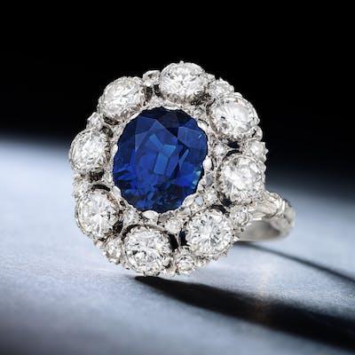 Buccellati Sapphire and Diamond Ring