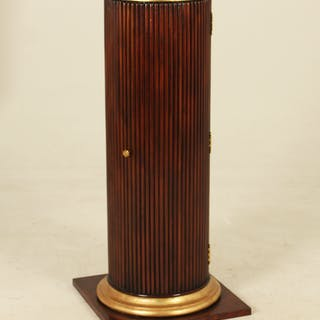MAHOGANY AND GILT PEDESTAL CABINET