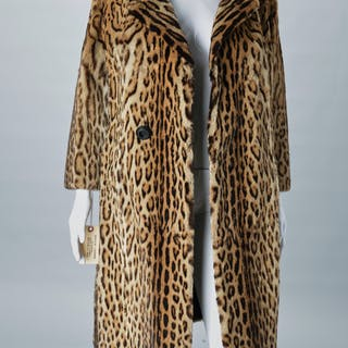 David New York ocelot coat