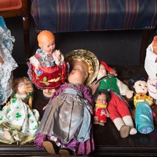 Assorted Travel Souvenir Costume Dolls