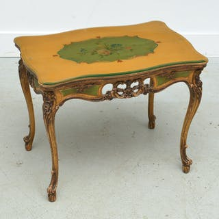 Venetian style paint decorated occasional table