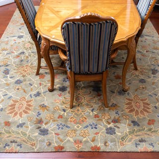 Contemporary Wool Floral Area Rug