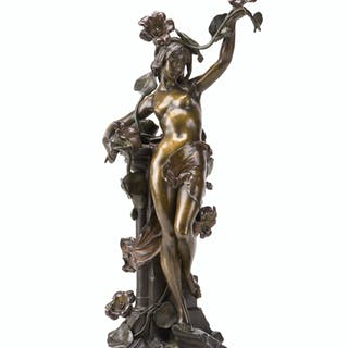 A bronze sculpture