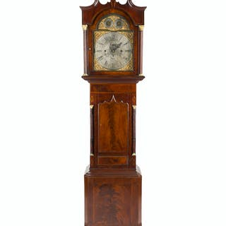 An English Ellis of Sheffield tall case clock