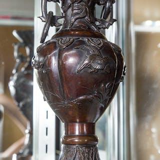 Chinese Patinated Bronze Vase