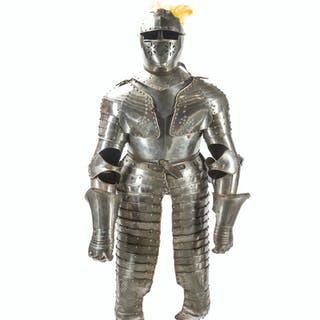 A Continental cuirassier suit of armor