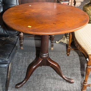 Federal Style Walnut Tilt-top Tea Table