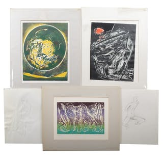 Ina Helrich. Five Various Works on Paper